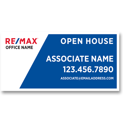 "Banner Blue - Open House 96"" x 48"""