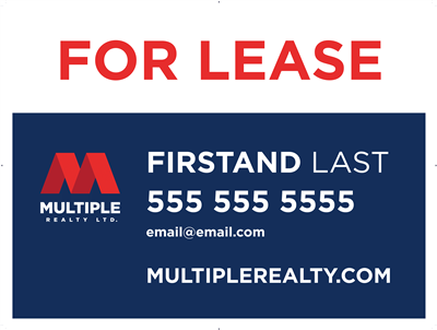 "4mm Coroplast For Lease Sign 02 32"" x 24"""