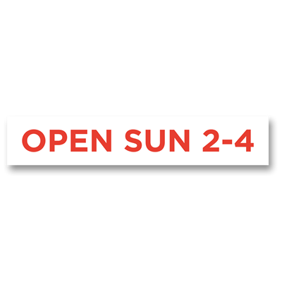 "Open Sunday 32"" x 6"""